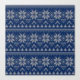 Knitted Scandinavian pattern 2 Canvas Print