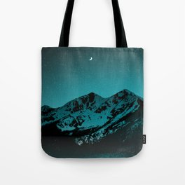Mountains at night series II // Boulder Colorado Tote Bag