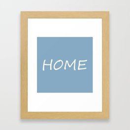 Home word on placid blue background Framed Art Print