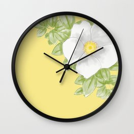 Cherokee Rose (yellow) Wall Clock