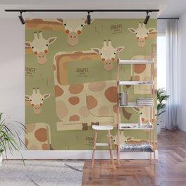 Giraffe, African Wildlife Wall Mural