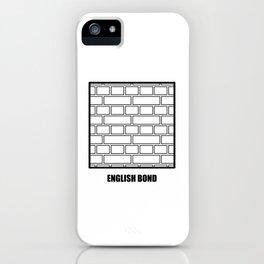 ENGLISH BOND HATCH iPhone Case