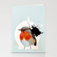 robin Stationery Cards featuring Robin by Stroke a Bird