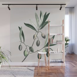 Olive Tree Branch Wall Mural