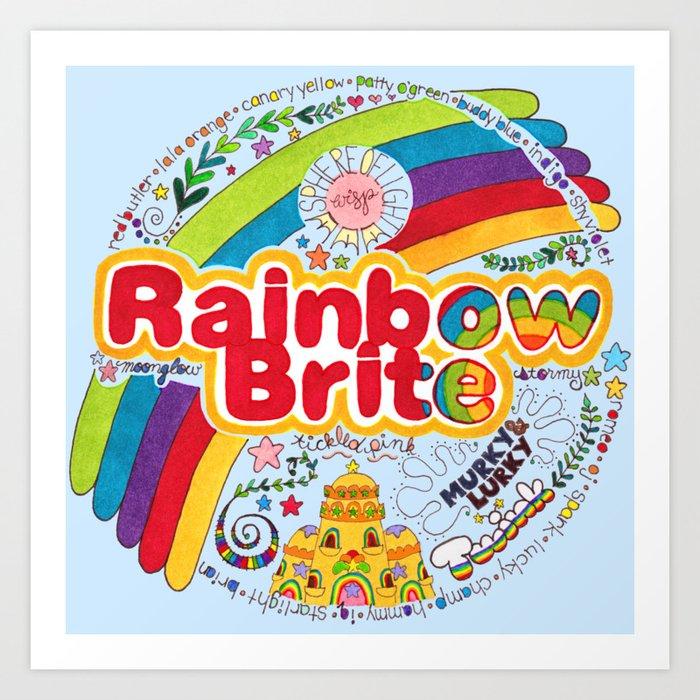 Rainbow Brite Kunstdrucke