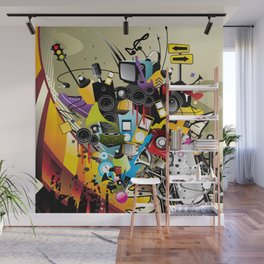 Sound System Space Wall Mural
