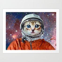 Astronaut Cat 3 Art Print