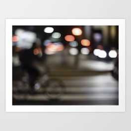 Biking lights Art Print