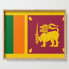 Flag of sri Lanka -ceylon,India, Asia,Sinhalese, Tamil,Pali,Buddhist,hindouist,Colombo,Moratuwa,tea Serving Tray
