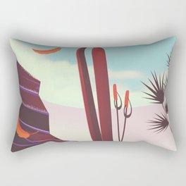 Falls Creek, Northeastern Australia Ski poster, Rectangular Pillow