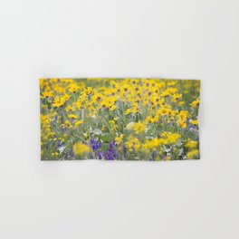 Meadow Gold - Wildflowers in a Mountain Meadow Hand & Bath Towel