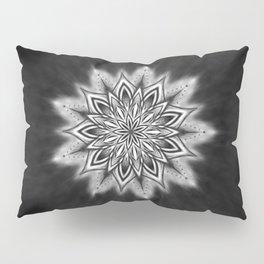 Black Ice Mandala Swirl Pillow Sham