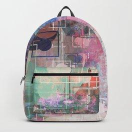 Distressed Pastel Geometric Pattern Backpack