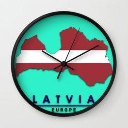 Latvia - Europe Wall Clock