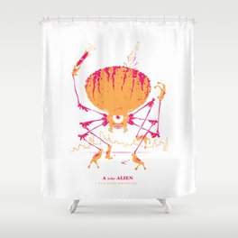 A is for Alien Shower Curtain