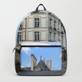 Old town street of Rennes Backpack