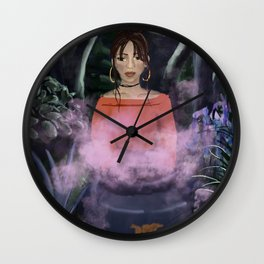witchy full moon rituals Wall Clock