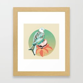 Good Morning lotus Framed Art Print