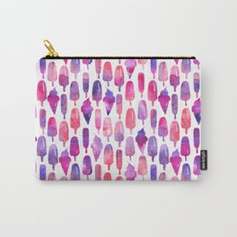 Pink Purple Watercolor Popsicles Icepops Carry-All Pouch