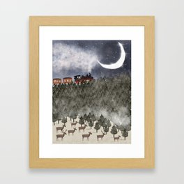 over the hills and far away Framed Art Print