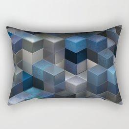 Artistic Cubes 09 blue Rectangular Pillow