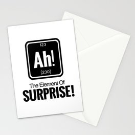 AH! THE ELEMENT OF SURPRISE! Stationery Cards