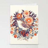 tea Stationery Cards featuring Wren Day by Teagan White
