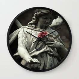 Angel with a rose Wall Clock