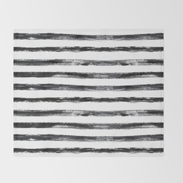 Grungy stripes Throw Blanket