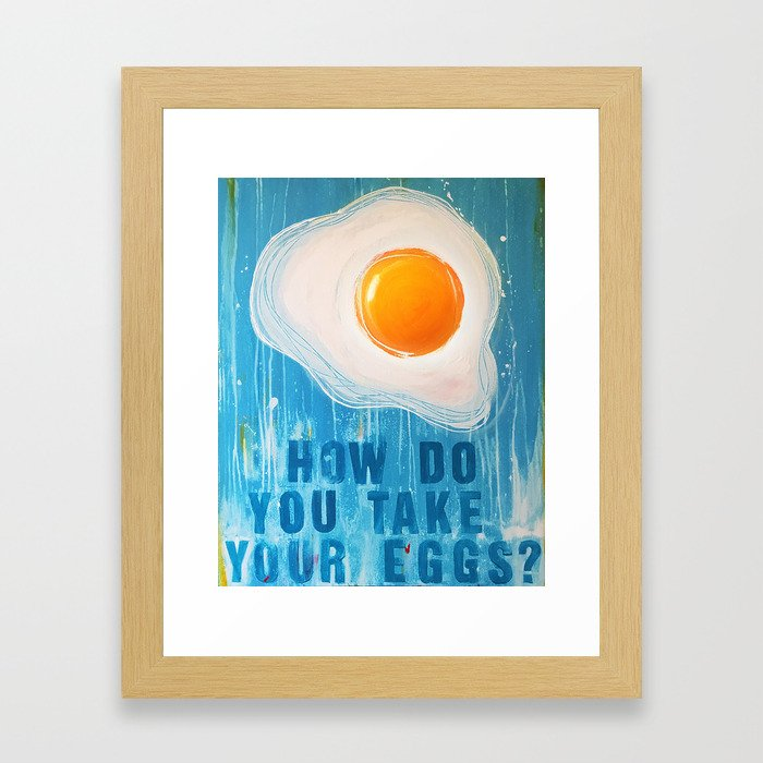 Over Easy Framed Art Print