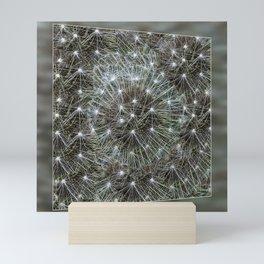 Spinning dandelion puff Mini Art Print