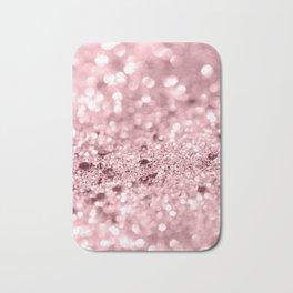 Rose Gold Blush Girls Glitter #1 #shiny #decor #art #society6 Bath Mat