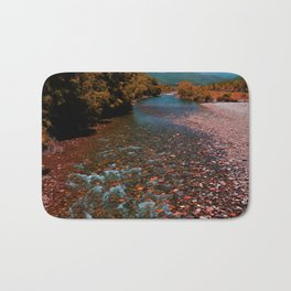 Autumn mountain river #photography #landscape Bath Mat