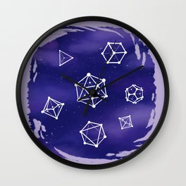 Polyhedral Constellations Wall Clock