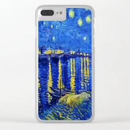 Starry Night Over Rhone Clear iPhone Case