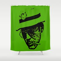 literature Shower Curtains featuring Outlaws of Literature (Hunter S. Thompson) by Silvio Ledbetter