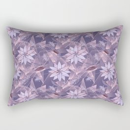 The floral pattern. Lilac flowers on abstract background. Rectangular Pillow