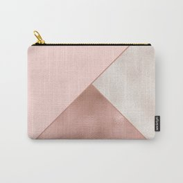 Luxury Glamorous Rose Gold Metallic Glitter Carry-All Pouch