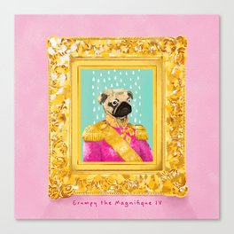 Pug the Magnifique Canvas Print