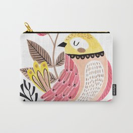 Little Birdy on a Log Carry-All Pouch