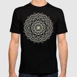 Sea Shimmer Mandala - Gold + Turquoise T-shirt