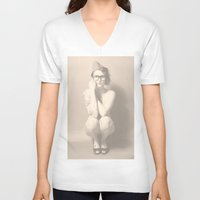 nudes V-neck T-shirts featuring join the nerd-army by Falko Follert Art-FF77