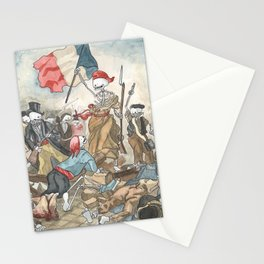 Liberty leading the people - Delacroix - Skeleton version Stationery Cards