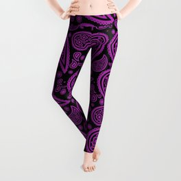 Paisley (Purple & Black Pattern) Leggings