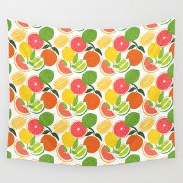 Citrus Harvest Wall Tapestry