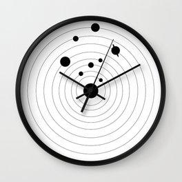 Black Solar System Wall Clock