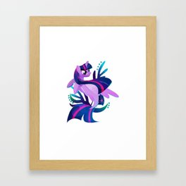 Seapony Twilight Sparkle Crewneck Framed Art Print