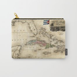 Map of Cuba by J.H. Colton (1851) Carry-All Pouch