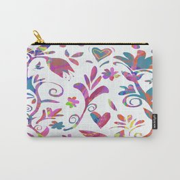 Fantasy Pink Flowers Carry-All Pouch