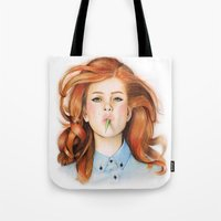 ginger Tote Bags featuring Ginger by Sugar Doll